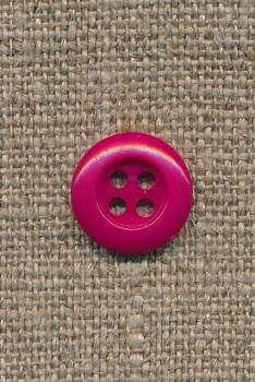4-huls knap mørk pink, 13 mm.