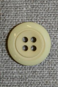 4-huls knap korn-gul m/kant 18 mm.