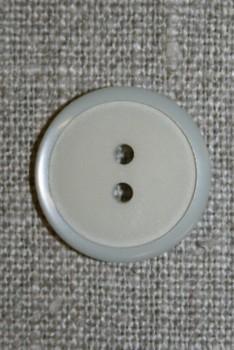 2-huls knap lysegrå, 20 mm.
