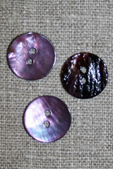 Perlemors-knap lys lilla 15 mm.