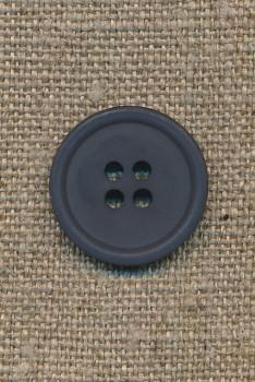 4-huls knap støvet blå, 20 mm.