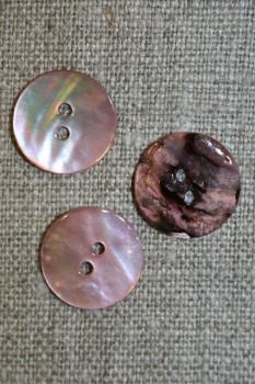 Perlemors-knap lys rosa 15 mm.