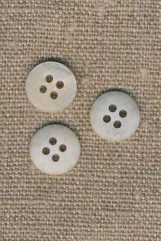 4-huls knap meleret off-white/kit 13 mm.