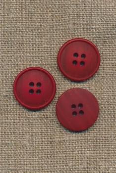4-huls knap meleret rød 20 mm.