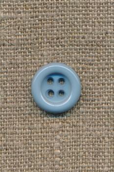 4-huls knap lys støvet blå, 14 mm.