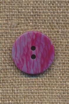 2-huls knap pink/grå