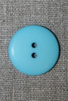 2-huls knap lys turkis, 23 mm.