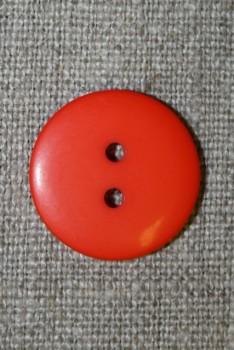 2-huls knap orange, 20 mm.