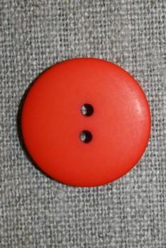 2-huls knap orange, 23 mm.