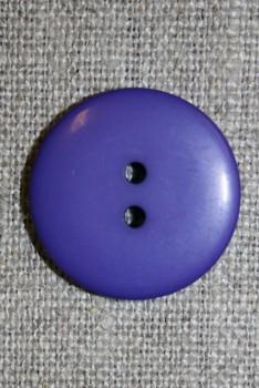 2-huls knap lilla, 23 mm.