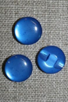 Rund blank knap 12 mm. blå