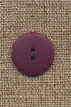 2-huls knap mørk lyng, 18 mm.