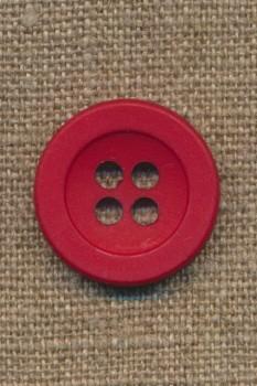 4-huls knap rød 22 mm.