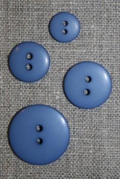 2-huls knap i støvet blå i 4 str.