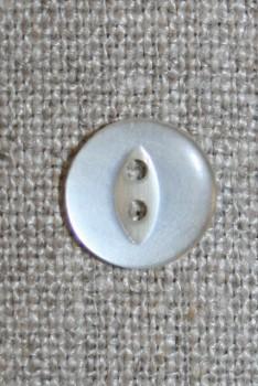 Blank 2-huls knap off-white 13 mm.