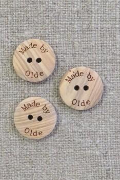 """Lys træknap med teksten """"Made by Olde"""""""