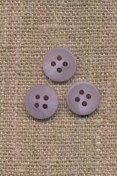 4-huls knap lyselilla meleret, 11 mm.