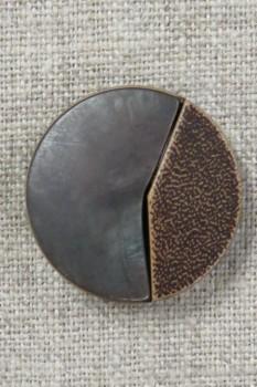 2-delt brun knap 26 mm.