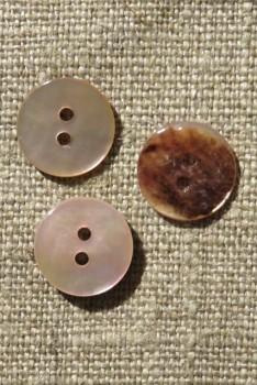 Perlemors-knap lys rosa 13 mm.