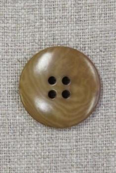 4-huls knap lys okker meleret 25 mm.