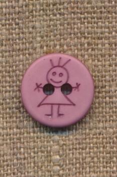 Knap med pige i rosa