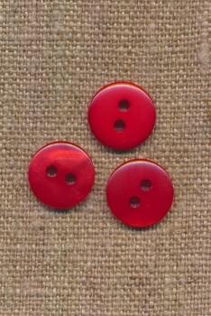 2-huls knap i rød 13 mm.