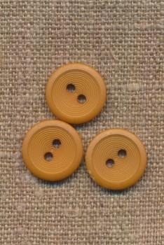 2-huls knap lys sennep 15 mm.