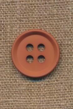 4-huls knap i rød-brun 23 mm.