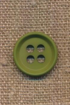 4-huls knap i grøn 18 mm.