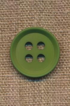 4-huls knap i grøn 23 mm.