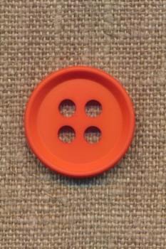 4-huls knap i orange 23 mm.