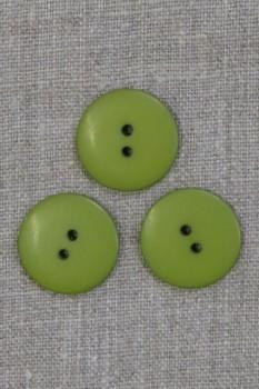2-huls knap i lime-grøn 23 mm.