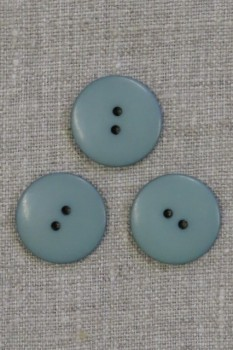 2-huls knap i vandgrøn 23 mm.