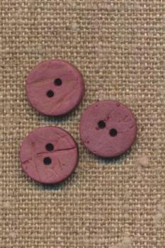 Kokos knap i mørk rosa 12 mm.