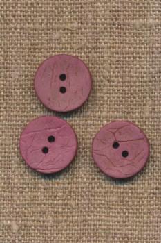 Kokos knap i mørk rosa 15 mm.