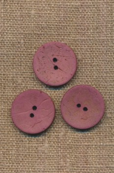 Kokos knap i mørk rosa 20 mm.