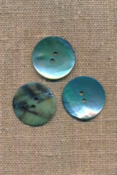 Perlemors-knap aqua 23 mm.
