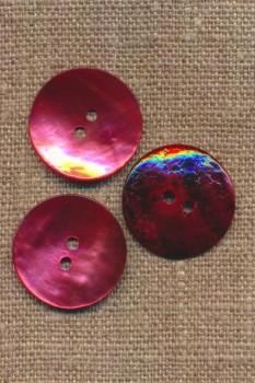 Perlemors-knap lys hindbær 23 mm.