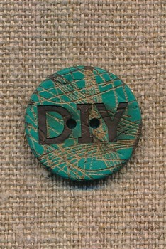 Kokos knap i irgrøn DIY 23 mm.