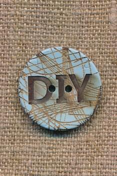 Kokos knap i lys blå DIY 23 mm.
