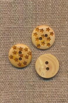 Træknap med små stjerner, 15 mm.