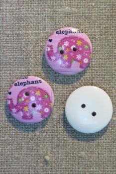 Knap træ med elefant i pink, cerisse