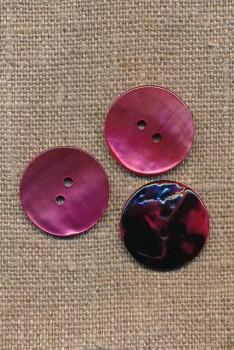 Perlemors-knap i pink 20 mm.