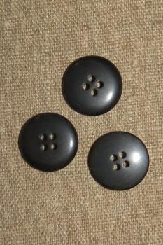 4-huls Knap i koksgrå let meleret 20 mm.