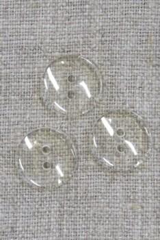 Klar/gennemsigtig knap 15 mm