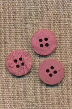 Kokos knap i støvet rosa 15 mm.