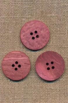 Kokos knap i støvet rosa 25 mm.