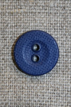 Ru 2-huls knap mørkeblå, 13 mm.