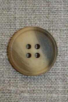 4-huls knap brun/gul, 23 mm.