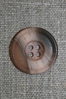 4-huls knap brun/pudder/beige